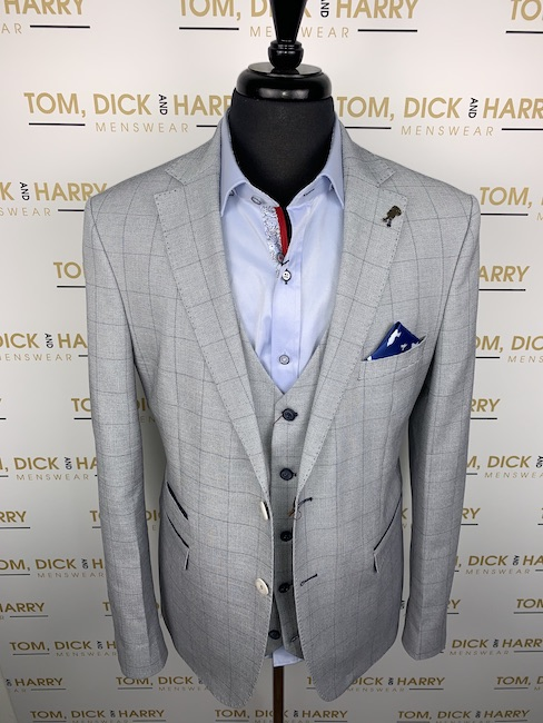 Fratelli grey jacket and waistcoat