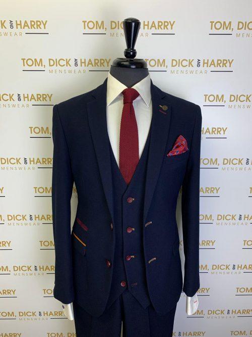 Marc Darcy -JD4- Navy Three Piece Suit