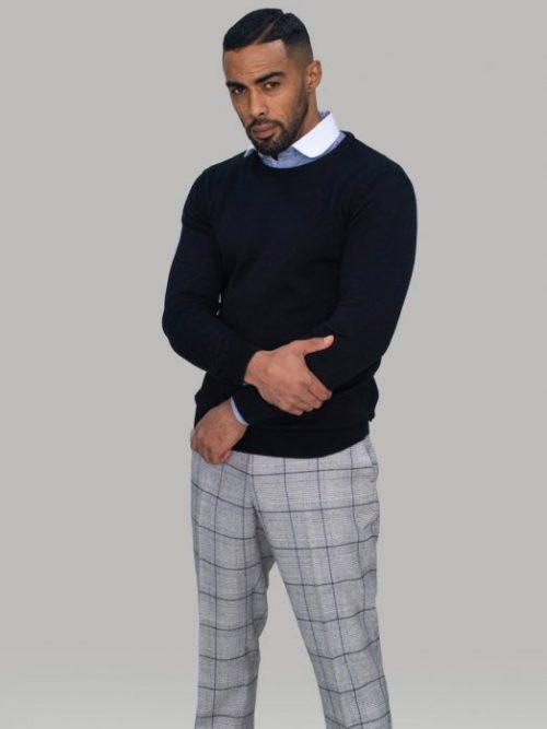 Cavani Black Crewneck Knit