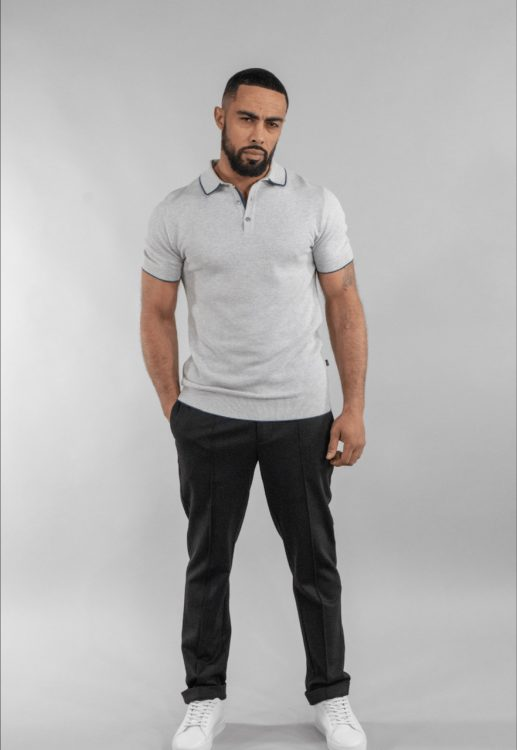 Cavani Grey Kobe Polo shirt