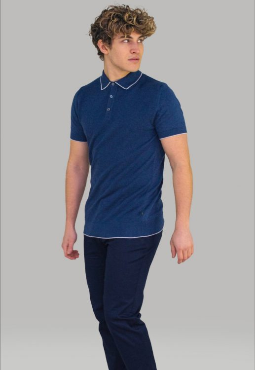 Cavani Kobe Blue Polo Shirt
