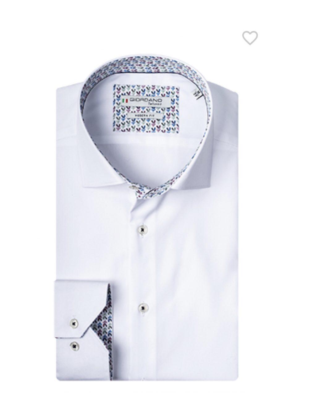 Giordano White Premium Cotton Shirt