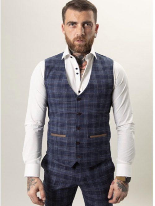 Fratelli Textured Check Waistcoat