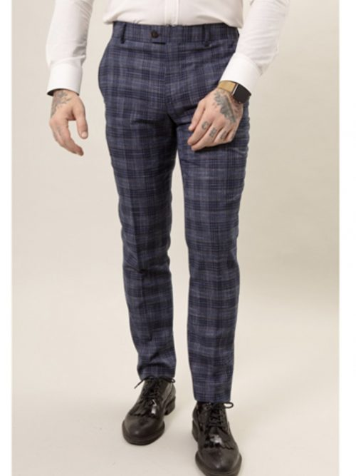 Fratelli Textured Check Trousers
